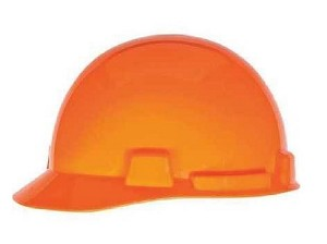 MSA 10095988 SmoothDome Protective Cap, Hi-Viz Yellow-Green w/Silver Stripe, 6-Point Fas-Trac III