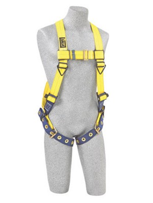 DBI/SALA 1106024 Large Delta Full Body/Vest Style Harness With Back D-Ring And Tongue Buckle Leg Strap
