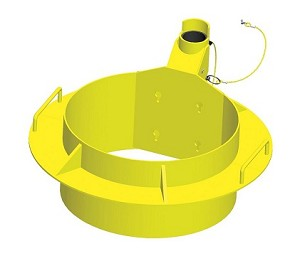 3M IN-2224 Xtirpa Confined Space Adjustable Manhole Collar 34-36 In.