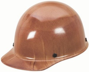 MSA Safety 475395 Skullgard Protective Cap Natural Tan - w/ Fas-Trac III Suspension, Standard