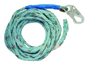 "Falltech 8149T 50' VLL Snap Hook + Taped-end 5/8"" Blue"