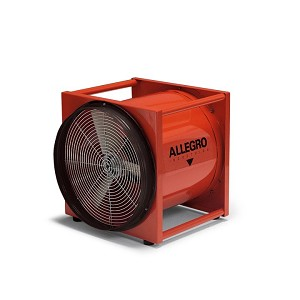 "Allegro 9515-E 16"" Axial AC Standard Metal Blower, 220V/50 Hz"