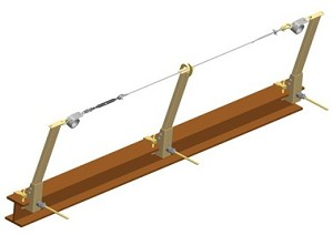 Miller SkyGrip SGS18/120FT Temporary Horizontal Lifeline Systems Steel