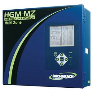Bacharach 3015 5046 HGM-MZ HGM MZ Halogen Gas Leak Monitor Multi Zone