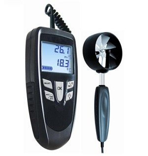 E Instruments LV107S LV 107 S Portable Vane Thermo Anemometer