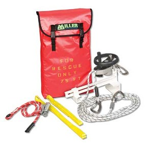 Miller SEHWLB/250FT SafEscape Elite RDD w/Hoist Wheel & Ladder Bracket 250ft