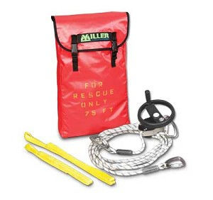 Miller SEHW/125FT SafEscape Elite RDD with Hoisting Wheel 125ft Fall Safety