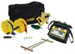 AEMC 4610 2135.16 4-Point Ground Resistance Tester Kit 150 Ft Meter