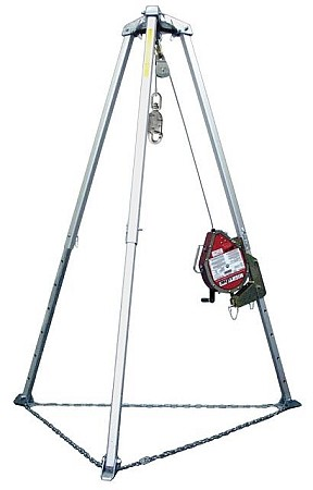 Miller MR130GC-Z7/130FT MightEvac Galvanized Lifeline with Tripod