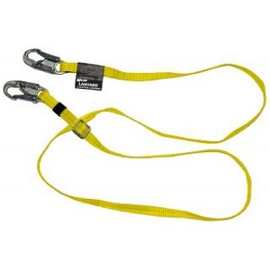 Miller / Honeywell 6' web lanyard adjustable to 4', w/2 locking snap hooks with USS tags
