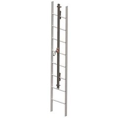 Miller GS0240 GlideLoc 240 Ft. Stainless Steel Ladder Climbing System Kit Fall Protection Equipment