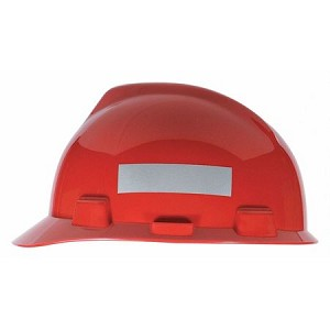 MSA 10039100 Hard Hat, Slvr/Wht Rflctive Tape, R100, 1x4