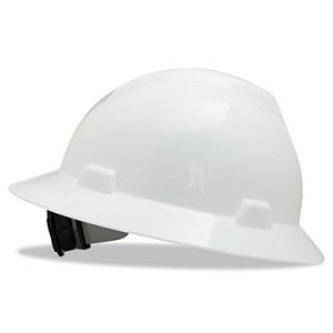 MSA Safety 475369 Hard Hat, FullBrim, White