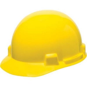 MSA Safety 10074069 SmoothDome Protective Cap, Yellow, 4-Point Fas-Trac III