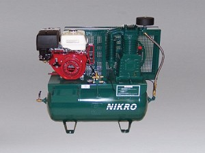Nikro 860756 13HP Honda 2 Stage Electric Start 175 PSI Truck Mount Gasoline Compressor