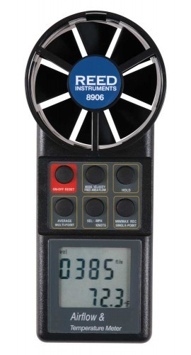 Reed 8906 Vane Thermo-Anemometer with Air Volume