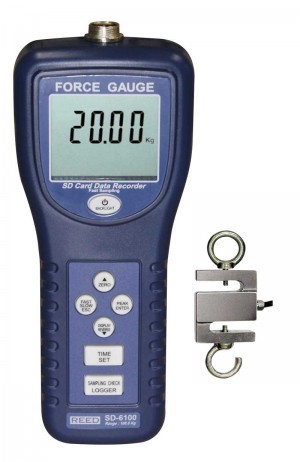 Reed SD-6100 Data Logging Force Gauge, 220 lbs (100 kg)