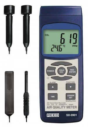 Reed SD-9901 Data Logging Indoor Air Quality Meter