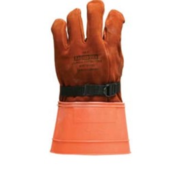 Salisbury Honeywell 156-7 Leather Protector Glove Import Cowhide 16 Inch