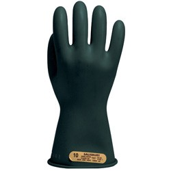 "Salisbury Honeywell E0011B Lineman Gloves Class 00 Low Voltage 11"" Black"