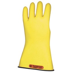"Salisbury Honeywell E011BY Lineman Gloves Class 0 Low Voltage 11"" Yellow With Black Inside"