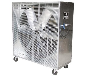 Schaefer MOB4851-2 Heavy Duty Mobile Box Fan Belt Drive 48 Inch
