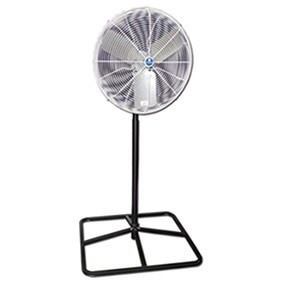 Schaefer 24PF OSHA Compliant Circulation Square Pedestal Fan 24 Inch