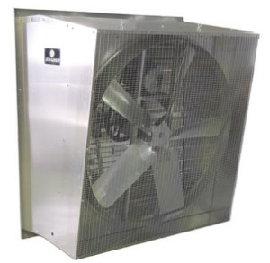 "Schaefer 245S34-2 Galvanized Belt Drive Slantwall Exhaust Fan 24"" 3/4HP"